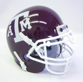 Texas A&M Schutt Mini Replica Helmet