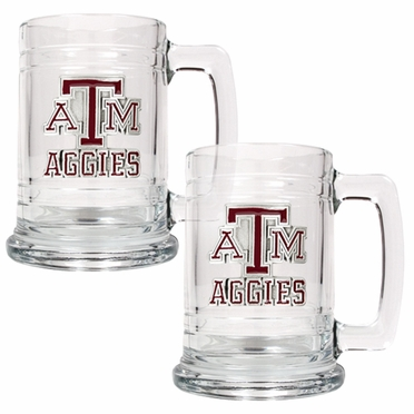Texas A&M Set of 2 15 oz. Tankards