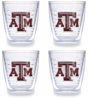 Texas A&M Set of FOUR 12 oz. Tervis Tumblers