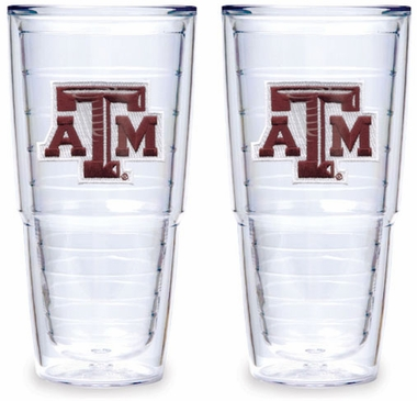 Texas A&M Set of TWO 24 oz. Tervis Tumblers