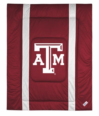 Texas A&M SIDELINES Jersey Material Comforter