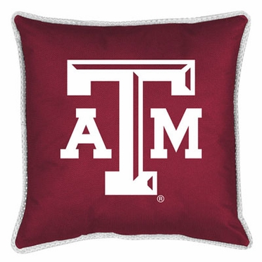 Texas A&M SIDELINES Jersey Material Toss Pillow