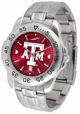 Texas A&M Sport Anonized Men's Steel Band Watch