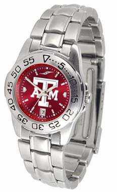Texas A&M Sport Anonized Women's Steel Band Watch