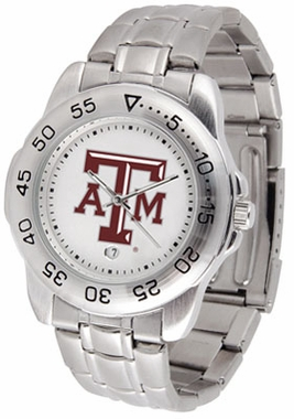 Texas A&M Sport Men's Steel Band Watch