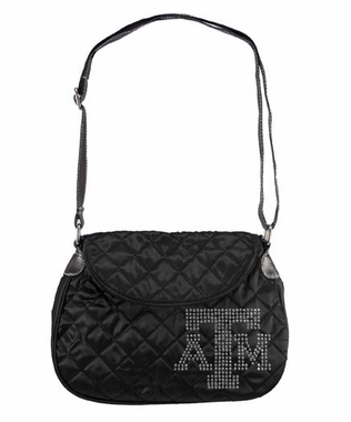 Texas A&M Sport Noir Quilted Saddlebag