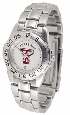 Texas A&M Sport Women's Steel Band Watch