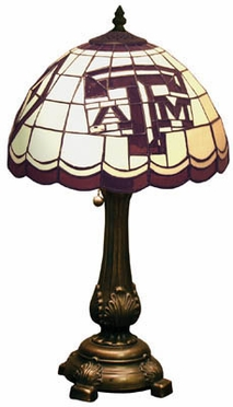 Texas A&M Stained Glass Table Lamp