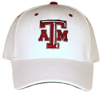 Texas A&M White Premium FlexFit Baseball Hat