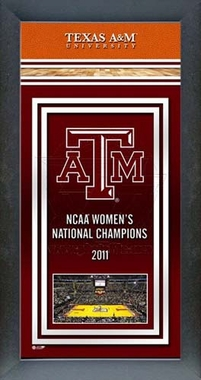 Texas A&M Women's Basketball National Champions Framed Championship Banner