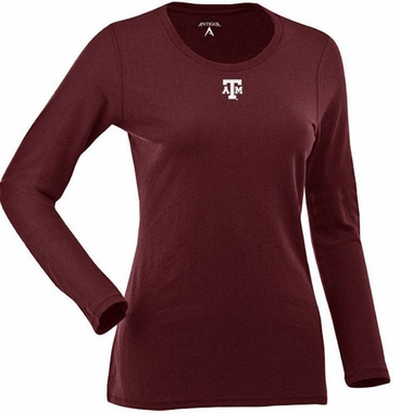 Texas A&M Womens Relax Long Sleeve Tee (Team Color: Maroon)