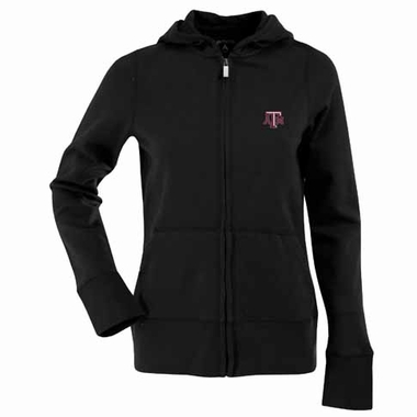 Texas A&M Womens Zip Front Hoody Sweatshirt (Color: Black)