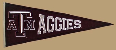 Texas A&M Wool Pennant