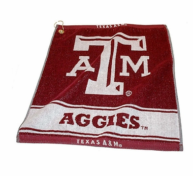 Texas A&M Woven Golf Towel