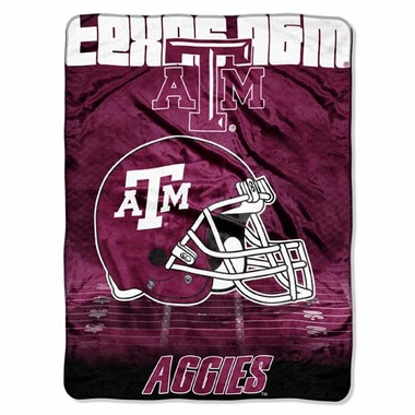 Texas A&M XL Micro Raschel Blanket