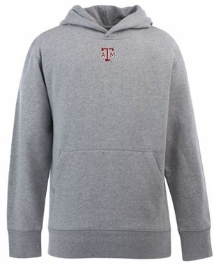Texas A&M YOUTH Boys Signature Hooded Sweatshirt (Color: Gray)