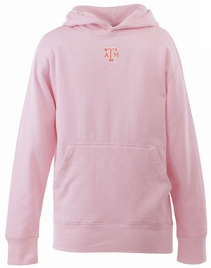 Texas A&M YOUTH Girls Signature Hooded Sweatshirt (Color: Pink)