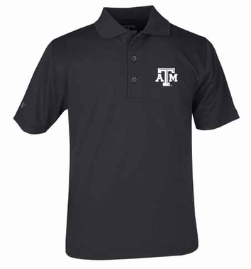 Texas A&M YOUTH Unisex Pique Polo Shirt (Team Color: Black)