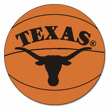 Texas 27 Inch Basketball Shaped Rug