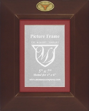 Texas BROWN Portrait Picture Frame