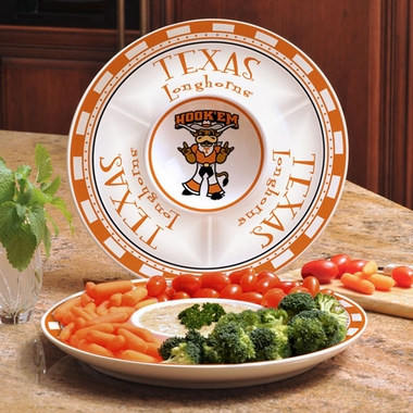 Texas Ceramic Chip and Dip Plate