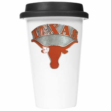 Texas Ceramic Travel Cup (Black Lid)