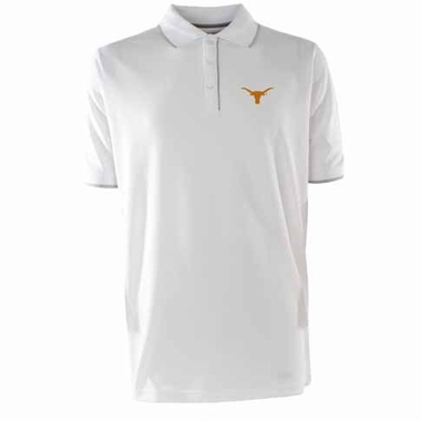 Texas Mens Elite Polo Shirt (Color: White)