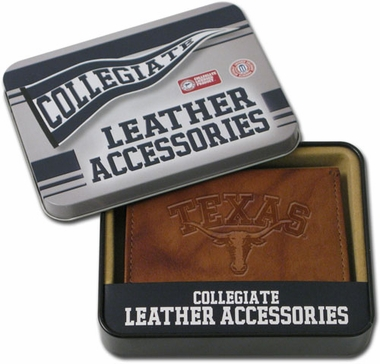 Texas Embossed Leather Trifold Wallet