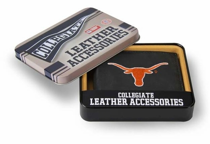 Texas Embroidered Leather Bi-Fold Wallet