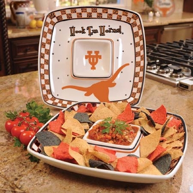 Texas Gameday Ceramic Chip and Dip Platter