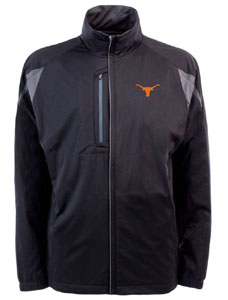Texas Mens Highland Water Resistant Jacket (Team Color: Black) - X-Large