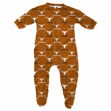 Texas Infant Footed Zip Raglan Coverall Sleeper