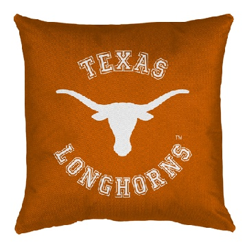 Texas Jersey Material Toss Pillow