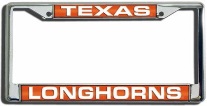 Texas Laser Etched Chrome License Plate Frame