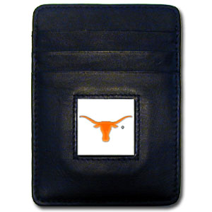 Texas Leather Money Clip
