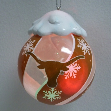 Texas Light Up Glass Ball Ornament