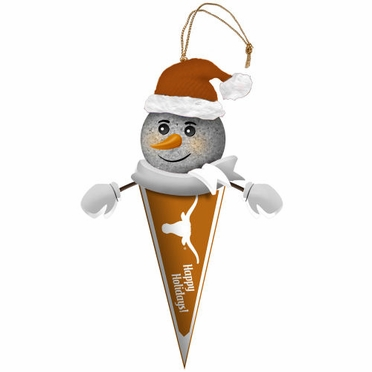 Texas Light Up Snowman Pennant Ornament (Set of 3)