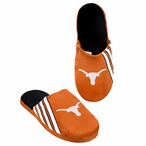 Texas Longhorns 2012 Team Stripe Logo Slippers - Small