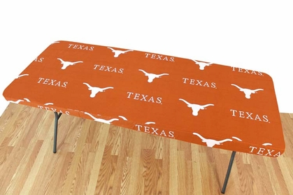Texas Longhorns 6 Foot Table Cover