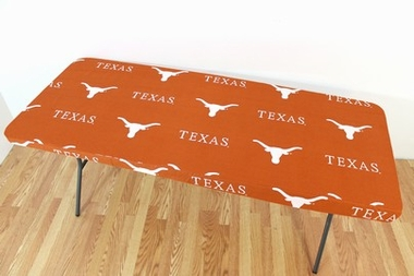 Texas Longhorns 8 Foot Table Cover