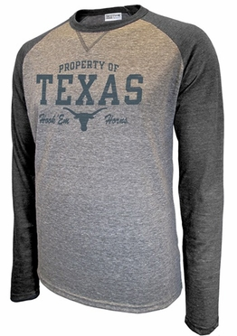 "Texas Longhorns Majestic ""Unity"" Triblend Premium Long Sleeve T-Shirt"