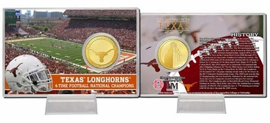 Texas Longhorns University of Texas Bronze Coin Card