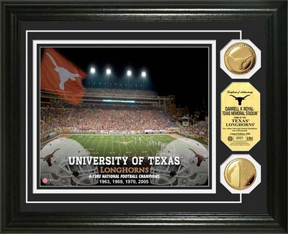 Texas Longhorns University of Texas Gold Coin Photo Mint
