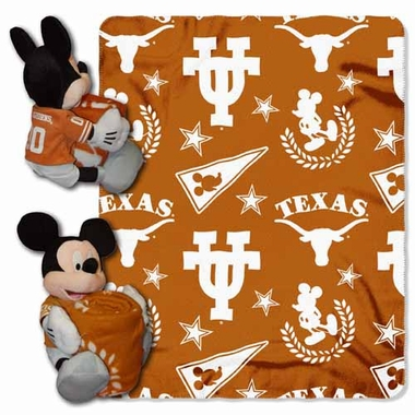 Texas Mickey Mouse Pillow / Throw Combo