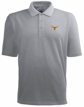 Texas Mens Pique Xtra Lite Polo Shirt (Color: Gray)