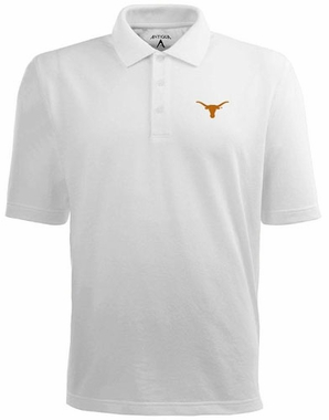 Texas Mens Pique Xtra Lite Polo Shirt (Color: White)