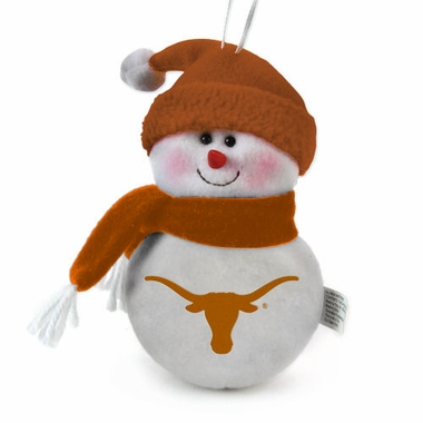 Texas Plush Snowman Ornament (Set of 3)