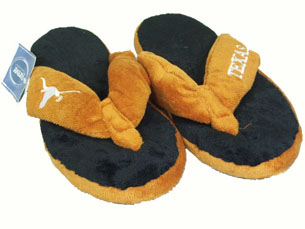 Texas Plush Thong Slippers - Large
