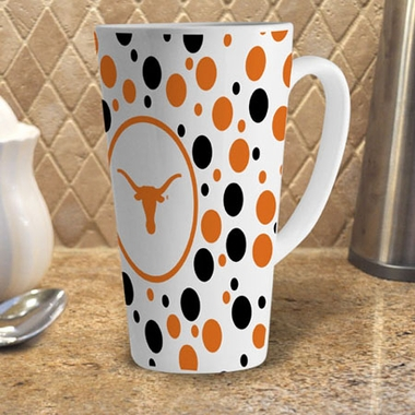Texas Polkadot 16 oz. Ceramic Latte Mug