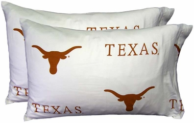 Texas Printed Pillow Case - (Set of 2) - White